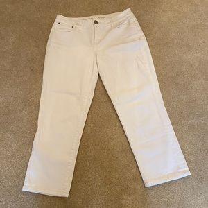 The Limited White 312 Crop Denim Capri  - Size 6
